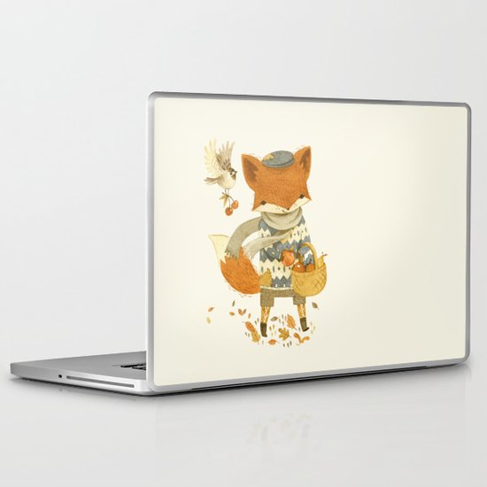 Fritz the Fruit-Foraging Fox Laptop & iPad Skin