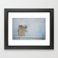 Chimney Pots And Cloudy … Framed Art Print