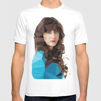 Zooey Deschanel Mens Fitted Tee White SMALL
