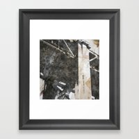 Under The Bay Bridge  Framed Art Print