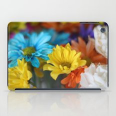 colorful flowers iPad Case