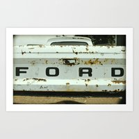 Old Ford Truck - Nice As… Art Print