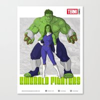 EMERALD FIGHTERS Canvas Print