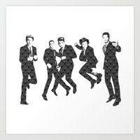 One Direction - Vintage Art Print