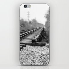 Railroad Tracks Black and White Photography iPhone & iPod Skin