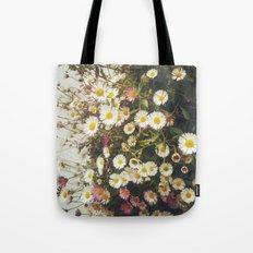 Wall of Daisies Tote Bag
