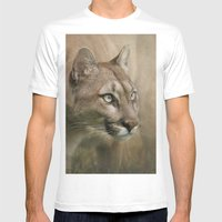 Puma profile Mens Fitted Tee White SMALL