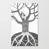 Winter reading Canvas Print