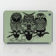 iPad Case featuring Owls Of The Nile by Rachel Caldwell