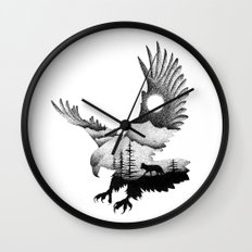 THE EAGLE AND THE FOX Wall Clock