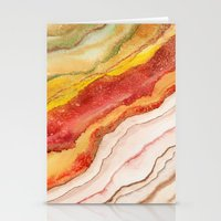 AGATE Inspired Watercolor Abstract 03 Stationery Cards