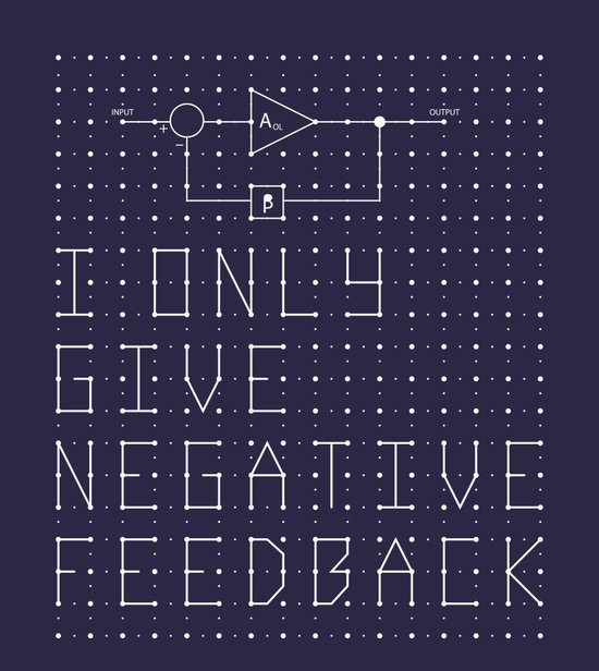 I only give negative Feedback Canvas Print