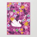 Delightful Swan Canvas Print