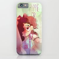 iPhone & iPod Case featuring Hippy girl by Francesco Malin