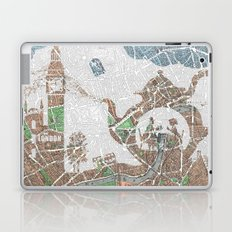 4 o'clock tea London Map Laptop & iPad Skin