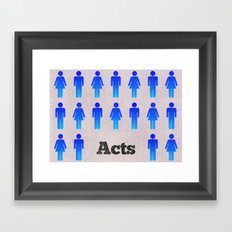 The Book of Acts (with Title) Framed Art Print