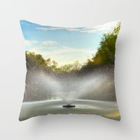 Fountain in New Orleans Throw Pillow