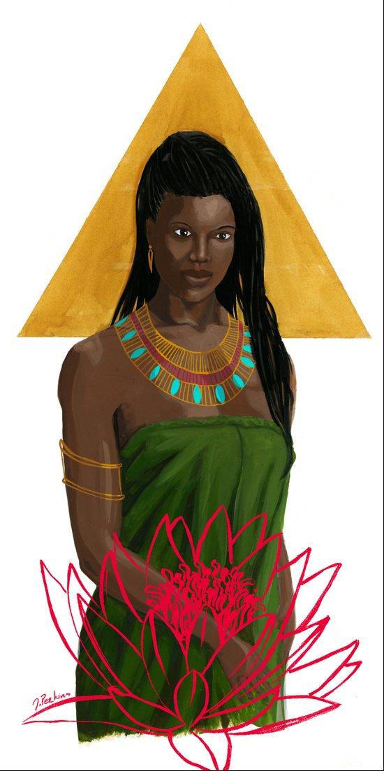 Egyptian Lotus Art Print