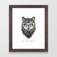 Who's your granny? (b&w) Framed Art Print