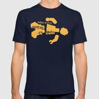 Anatomy of a Minifig Mens Fitted Tee Navy SMALL