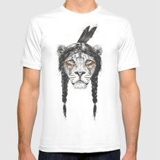 Warrior lion SMALL White Mens Fitted Tee