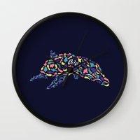 Abstract Dolphin Wall Clock