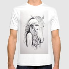 Mother of Dragons Mens Fitted Tee White SMALL