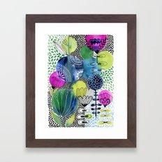 Indigo Blooms Framed Art Print