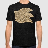 Sonic the Hedgehog Typography Mens Fitted Tee Tri-Black SMALL