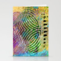 Abstract On Brown Stationery Cards