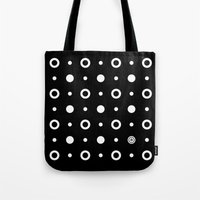 Dots / Black Tote Bag