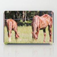 Horses Feeding In A Fiel… iPad Case