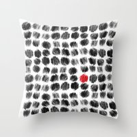 RED BALL Throw Pillow
