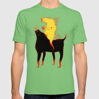 Yellow Rider Mens Fitted Tee Grass SMALL