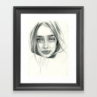 Doe Eyed Framed Art Print