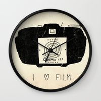 I Love Film Wall Clock