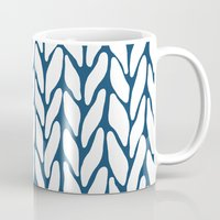 Hand Knitted Navy Mug