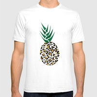 Leopard Pineapple Pictur… Mens Fitted Tee White SMALL