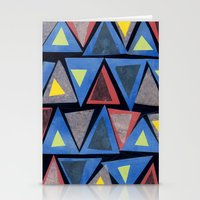 Collage Triangle Pattern Stationery Cards