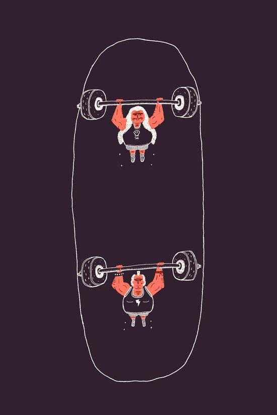 Heavyweight Skateboarding Canvas Print