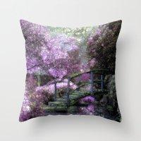Purple Pink Paradise Throw Pillow