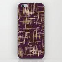 Crosshatch Plum iPhone & iPod Skin