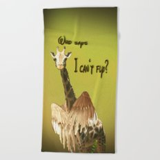 Who says? Beach Towel