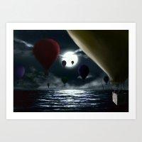 Crossing the ocean. Art Print