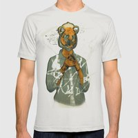 year of the tiger  Mens Fitted Tee Silver SMALL