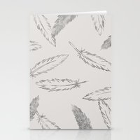 Painted Feathers - In Ta… Stationery Cards