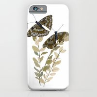 iPhone & iPod Case featuring Two Brown Butterflies by Yuliya
