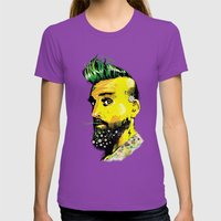 GREEN BEARD Womens Fitted Tee Ultraviolet SMALL