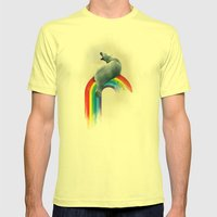 North Pole No IceSheets Mens Fitted Tee Lemon SMALL