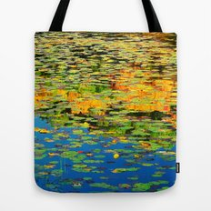 Lilly pond in the style of Monet Tote Bag